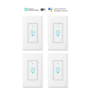 Smart Switch WIFI Light Wall Works with Alexa Google Home smart life 4pack