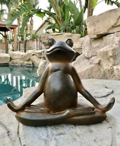 The Inner Peace of A Frog Yoga Toad In Meditation Figurine Collectible Ebros
