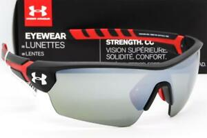 NEW UNDER ARMOUR RIVAL SUNGLASSES UA Satin BlackGrey Multiflection Mirror lens