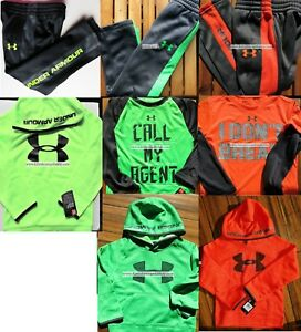UNDER ARMOUR BOYS ~ Size 4 Track Pants ~ Size 5 Hoodies ~ WINTER ~ NEW ~ 8pc