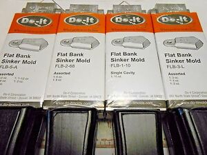 ROCK ISLAND DO-IT FLAT BANK SINKER MOLDS I REFUND EXCESS SHIPPING!!!