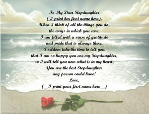 Personalized Poem Gift for that Special Stepdaughter (See all styles)