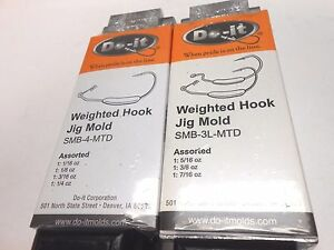 ROCK ISLAND SPORTS DO-IT WEIGHTED HOOK JIG MOLDS I REFUND EXCESS SHIPPING FEES!