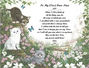 Personalized Poem Gift for that Special Niece (See all styles)