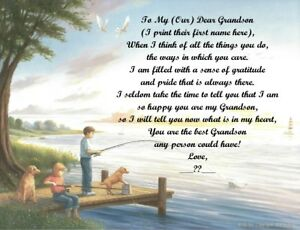 Personalized Poem Gift for that Special Grandson (See all styles)