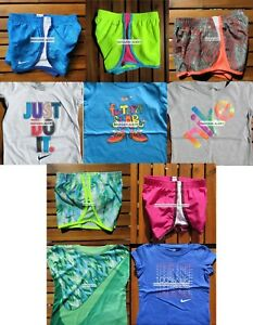 NIKE GIRLS 4T ~ 10 Pieces ~ SUMMER TEMPO DRI-FIT RUNNING SHORTS  T-SHIRTS ~ $230