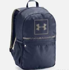 Under Armour Project 5 Backpack Blue Gray Storm Adjustable Padded 1328058 New