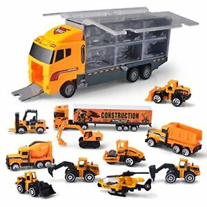 Joyin Toy 11 in 1 Die-cast Construction Truck Vehicle Car Toy Set Play Vehicl...