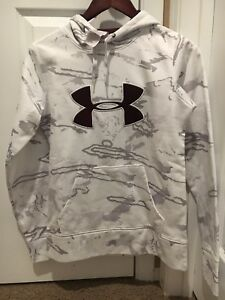 womens under armour Hoodie Xs White Camo And Burgendy