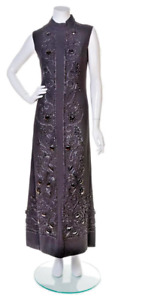 BALENCIAGA haute couture 1960 beaded gown Christies London rare vintage sale