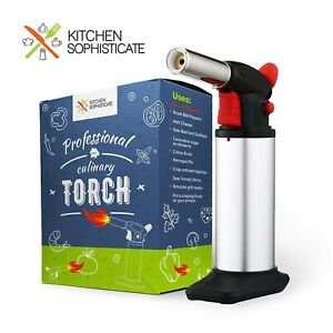Professional Culinary Torch (Butane) Kitchen Cooking Tool for Searing Food, M...