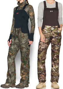 NWT Under Armour Women's Stealth Mid Season Scent Control Bibs Camo Hunting