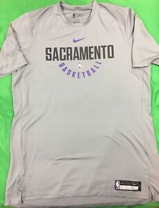 Nike Dri-Fit Sacramento Kings NBA Team Issued Practice PreGame Shirt SZ 2XL Tall