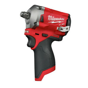 Milwaukee 2555 20 M12 FUEL Li Ion 1 2 in. Stubby Impact Wrench Tool Only New $174.99