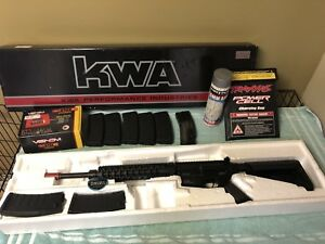 KWA KM4 SR10 FULL METAL GEARBOX 7 MAGS SPEEDLOADER CHARGER STARTER BUNDLE LOT