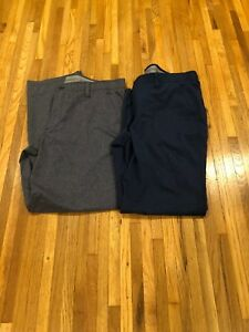 Set Of Under Armour UA Match Play Vented Golf Pants Stealth Gray Navy  Sz 4032