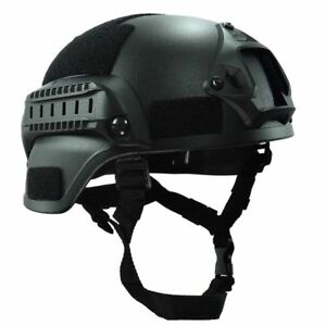 Military Tactical Helmet Gear Paintball Head Protector Camera NVG Mount