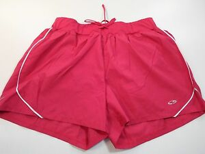 *CHAMPION* WOMEN'S SIZE M 8-10 ATHLETIC RUNNING LINED PINK SHORTS WAIST 28