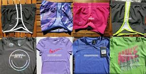 GIRLS NIKE ~ SIZE SMALL ~ NIKE TEMPO RUNNING SHORTS ~ T-SHIRTS ~ 8pc ~NEW $207