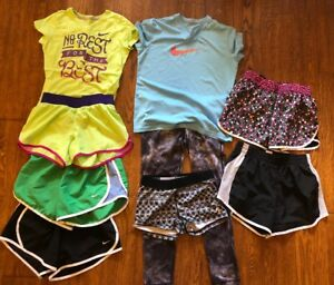 Girls Youth Nike Soffe Lot Size Large-XL Shorts Capri Spandex T-shirts  Dri Fit
