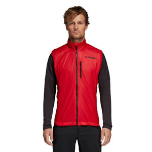 adidas Mens Agravic Alpha Vest Red Sports Running Breathable Lightweight