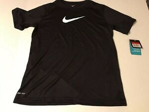 Nike Dry Fit Boys Large Black Shirt New With Tags