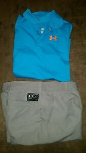 Lot Boys Under Armour golf shorts polo shirt set youth large dress clothes Lot