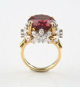 Tiffany & Co Schlumberger Pink Tourmaline and Diamond Flower Ring Blue Book 2014