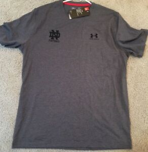 NWT TEAM ISSUED NOTRE DAME FOOTBALL LOOSE HEATGEAR UNDER ARMOUR SHIRT 3XL