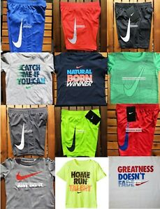 NIKE BOYS 3T ~  Dri-fit SHORTS ~ T-SHIRTS ~  NEW ~ 12 PIECES ~ SUMMER ~ $264