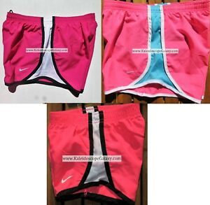 GIRLS NIKE TEMPO RUNNING SHORTS ~ PINK BLUE ~ YOUTH SIZE LARGE ~ 3 PAIRS