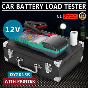 Battery Tester for 12V Lead-Acid Battery With Printer Pro HQ LCD WIDELY TRUSTED
