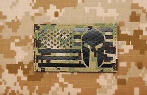 Infrared AOR2 NWU III US Spartan Helmet Flag Patch IR US Navy SEAL Molon Labe