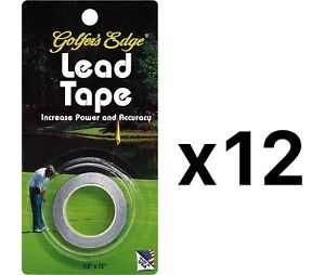 Unique Golf Lead Weight Tape For Putter & Club Golfer Accessory (12-Pack)