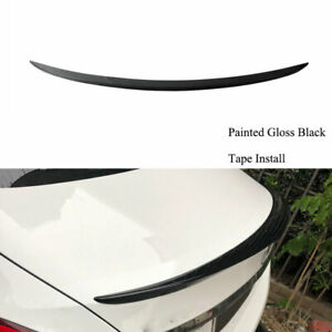 Paint Black Trunk Lip Spoiler Tail Wing For Fit Benz C-Class W205 C200 C300
