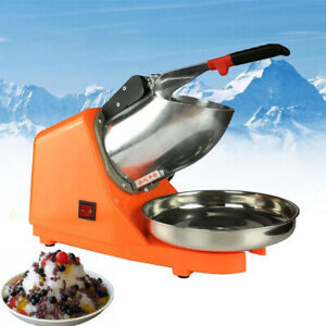 220V Electric Ice Crusher Machine Shaver Shaved Icee Snow Cone Maker 143 lbs