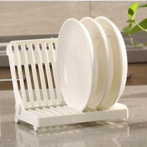 Drying Tray Dishes Foldable Kitchen Tableware Cup Organizer Drainer Stand Rack