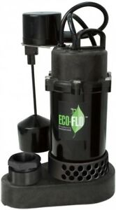 Semi-open Thermoplastic Sump Pump 1/3 HP with Vertical Float Switch and Valve
