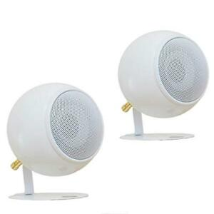 Orb Audio: Mod1 Round Stereo & TV Speakers - Two Pack - White