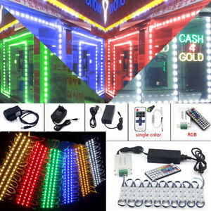 Bright 10~100FT 5050 SMD 3LED Module Bar Window Light Club Store Front Sign Lamp