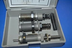 LOT #108 RCBS 3 DIE SET (CARBIDE) .45 LC WSHELL HOLDER