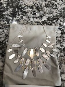 Kendra Scott Nettie Statement Necklace Bright Silver - Preowned - $140
