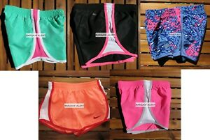 GIRLS 6X SUMMER RUNNING SHORTS ~ NIKE TEMPO ~ ORANGE BLACK PINK 5 pairs NEW $128