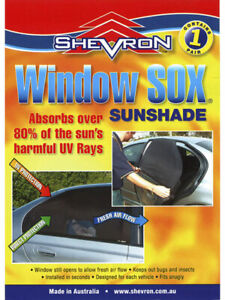 Shevron Window Sox Socks Sun Visor For Subaru Outback MY10 Wgn 709 On (WS16298)