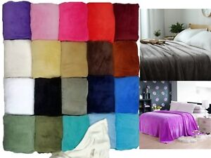 Sumptuous Light Winter Blanket Soft Throw 20 Solid Colors All Bed Sizes New
