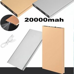 Wholesale 20000mah External Power Bank  Dual USB Battery Charger For Cell Phone