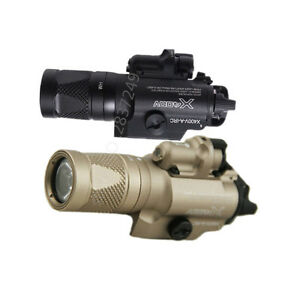 Strobe version Tactical Flashlight X400V With Red Laser LED Flashlight