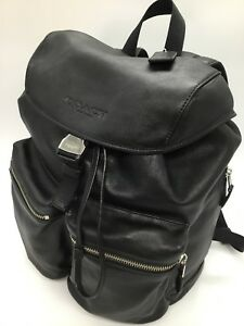 Coach Men's Large  Rucksack Smooth Leather Backpack F71728 Black