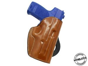 OWB Quick Draw Right Hand Leather Paddle Holster Fits Glock26 $38.42