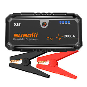 Suaoki 12V 2000A Portable Car Jump Starter Power Bank Battery Charger Emergency